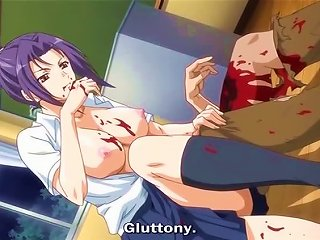 Anime Cutie Pleases Herself With Fervent -